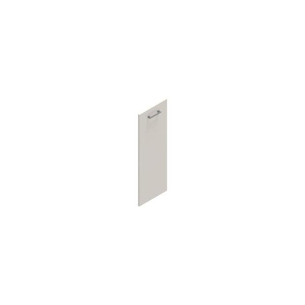 Jive+ låge t/3 rum i højden u/lås hvid decor lam.