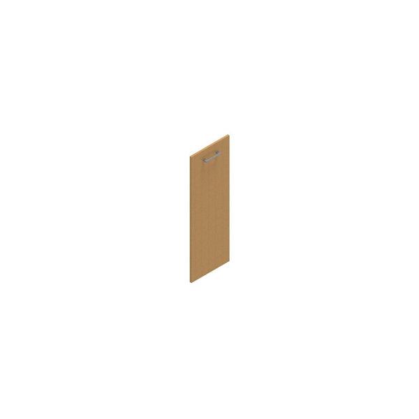 Jive+ låge t/3 rum i højden m/lås bøg finer