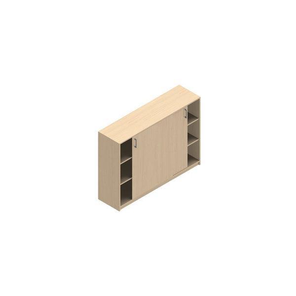 Jive+ Skydedørsskab m/6 rum m/lås birk finer B160
