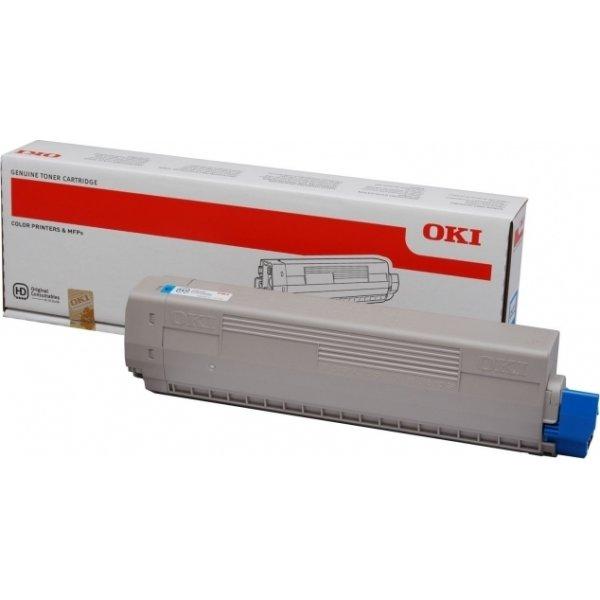 OKI 44844615  lasertoner, cyan, 7300s.
