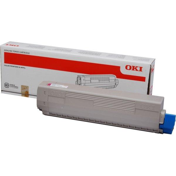 OKI 44844614 lasertoner, magenta, 7300s.