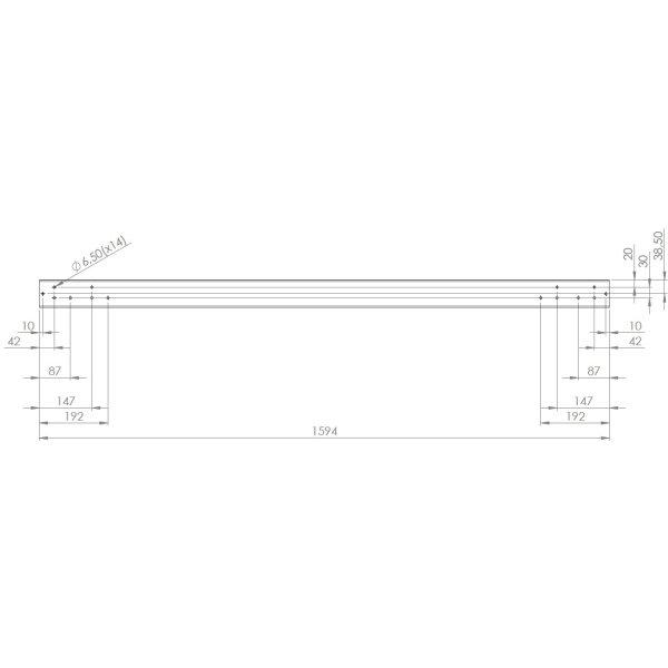 Screenit slide monteringsskinne L 160 cm