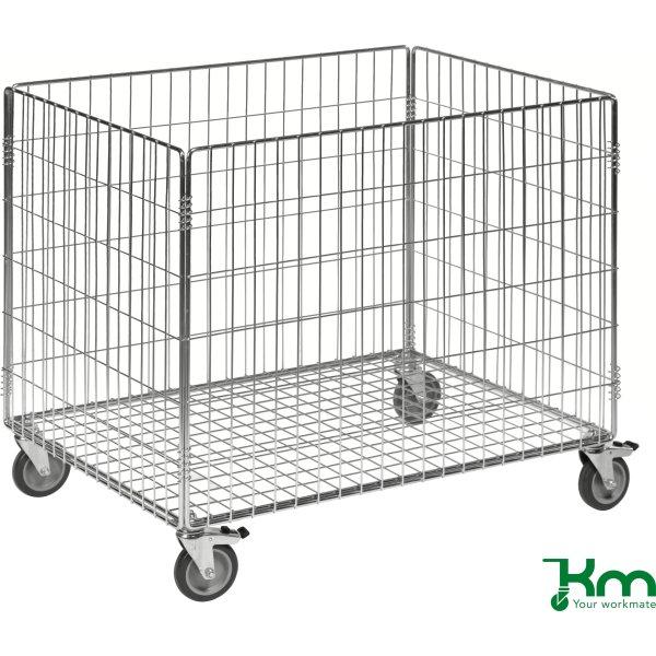 Fremragende Trådkurv m. hjul, 83,5x62,5x74 cm, 100 kg - Fri Fragt! CC68