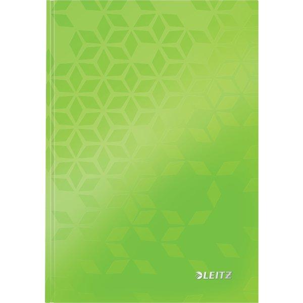 Leitz WOW notesbog A5, linjeret, grøn