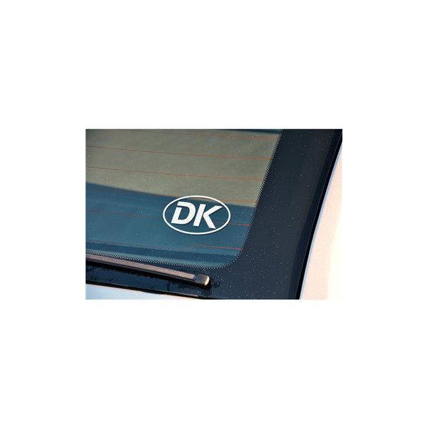 Rawlink DK-skilt, sølv/transparent