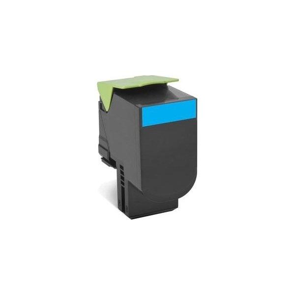 Lexmark 80C2HCE lasertoner, blå, 3000s