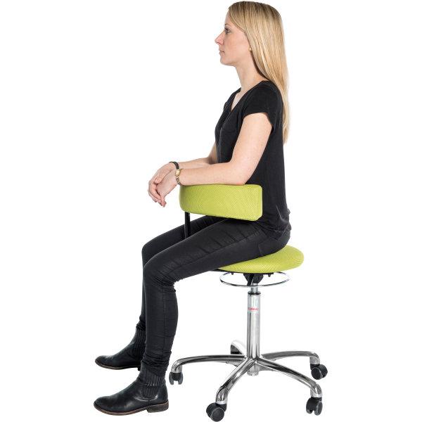 CL Saturn stol, hvid, kunstlæder, 49-69 cm