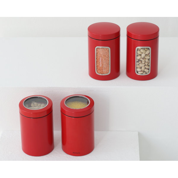 Brabantia Opbevaringsdåse 1,4L, passion red