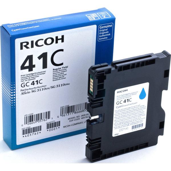 Ricoh 41C/405762 blækpatron, cyan, 2200 s.