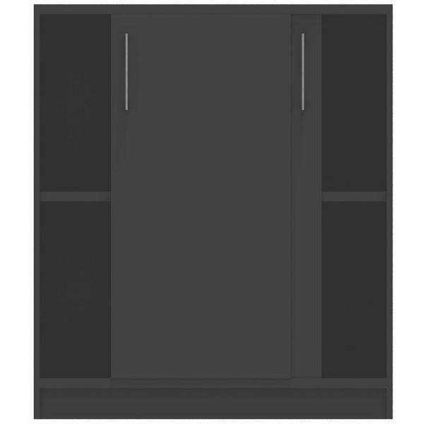 Jive+ Skydedørsskab m/4 rum m/lås Antracit B78 cm