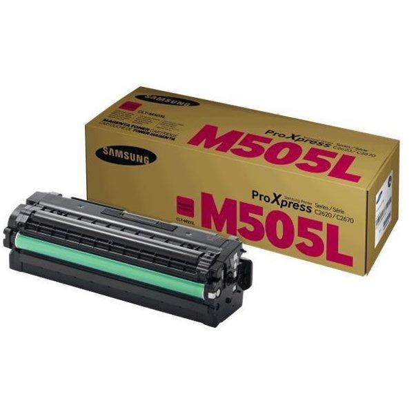 Samsung CLT-M505L/ELS lasertoner, rød, 3500s.