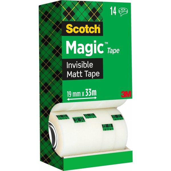 Scotch Magic 810 tape, value pack m. 14 rl.