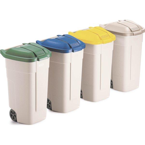 Rubbermaid mobil affaldsbeholder 100 liter, Sand
