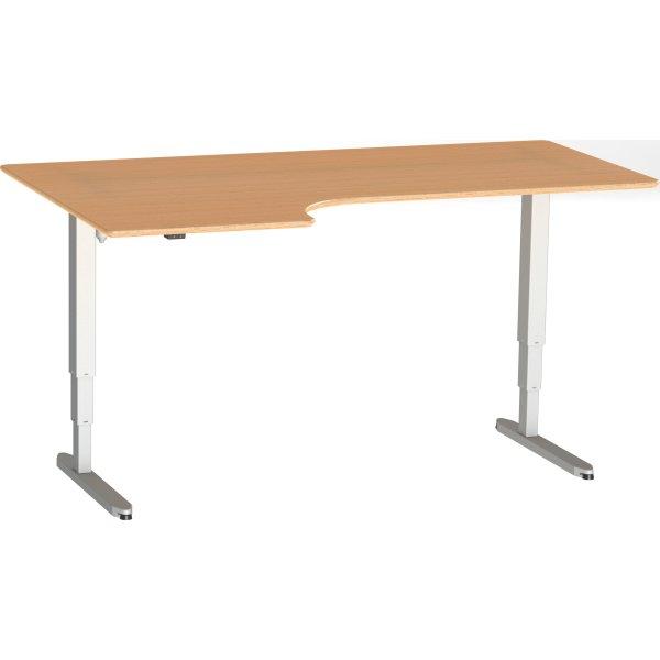 Stay hæve/sænkebord venstre 180x110 cm bøg