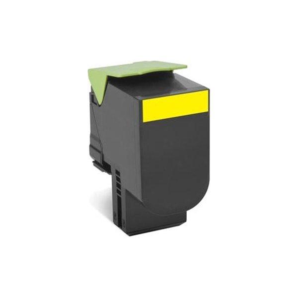Lexmark 80C2SYE lasertoner, gul, 2000s