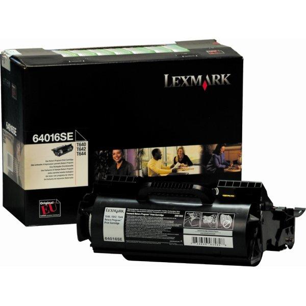 Lexmark 64016SE lasertoner, sort, 6000s