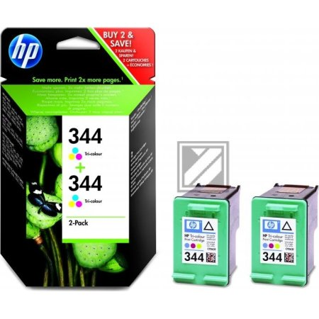 HP nr.344/C9505EE blækpatron, 3-farvet, 2stk