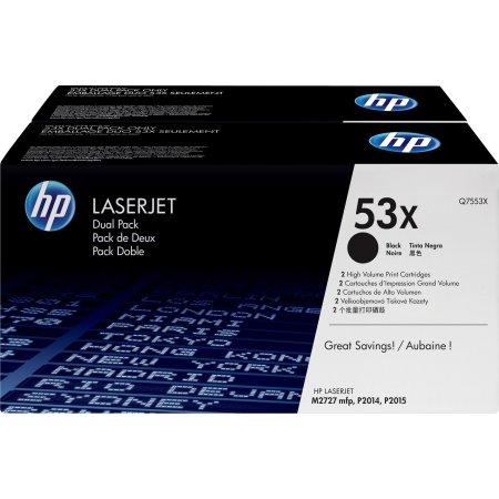 HP nr.53X/Q7553XD lasertoner, sort, 7000s, 2pk