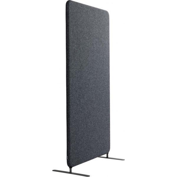 Softline Light skærmvæg 100x150 cm mørk grå m/ ben