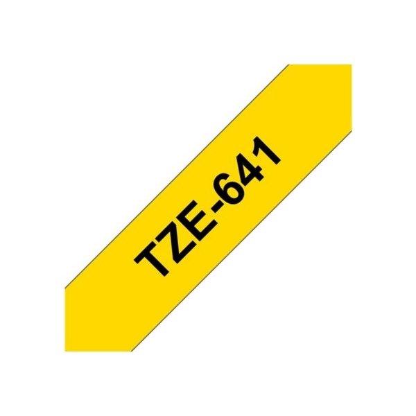 Brother TZe-641 labeltape 18mm, sort på gul