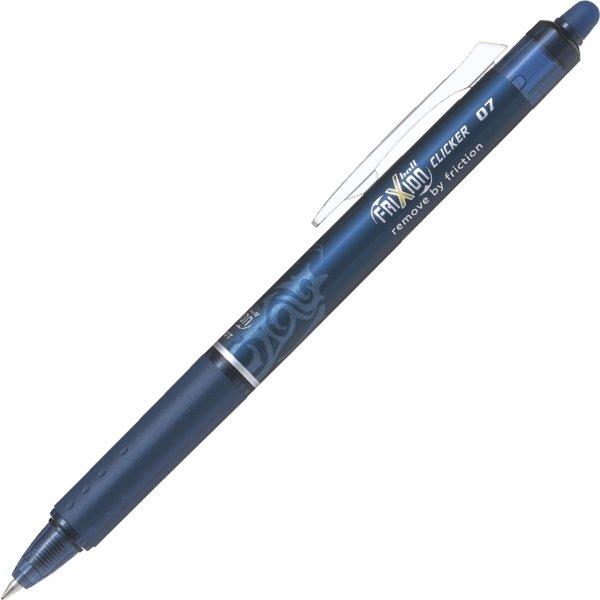 Pilot Frixion Clicker kuglepen, 0,7 mm, blåsort