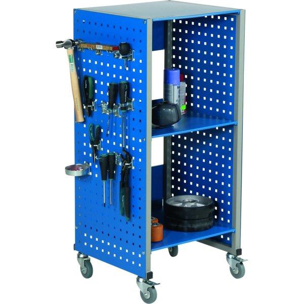 Mobil værkstedsvogn, (HxBxD) 1080x490x445, Blå