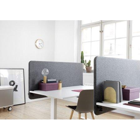 Softline Light bordskærmvæg 160x65 cm Mørk grå