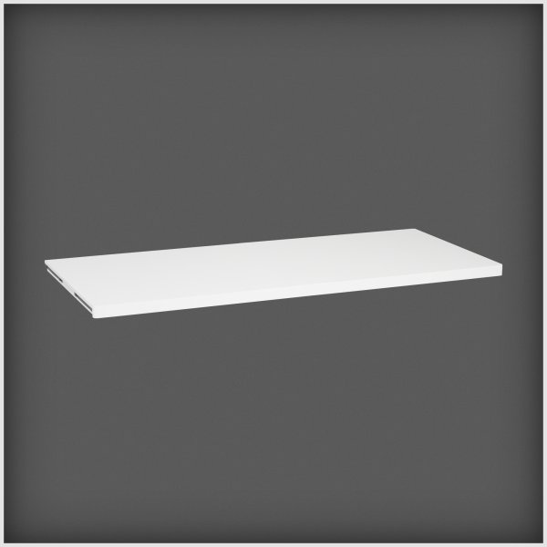 Elfa Décor hylde 50, længde 1212 mm, hvid