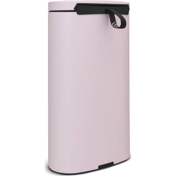Brabantia Flatback Pedalspand 30 liter, pink