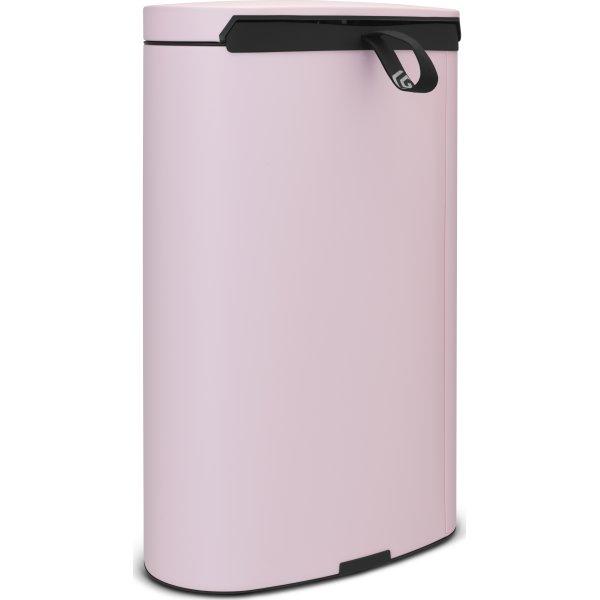 Brabantia Flatback Pedalspand 40 liter, pink