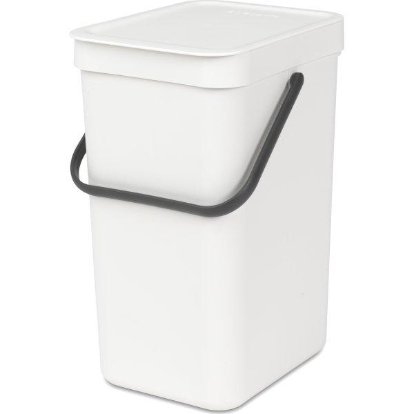 Brabantia Sort&Go Sorteringsspand 12 liter, hvid
