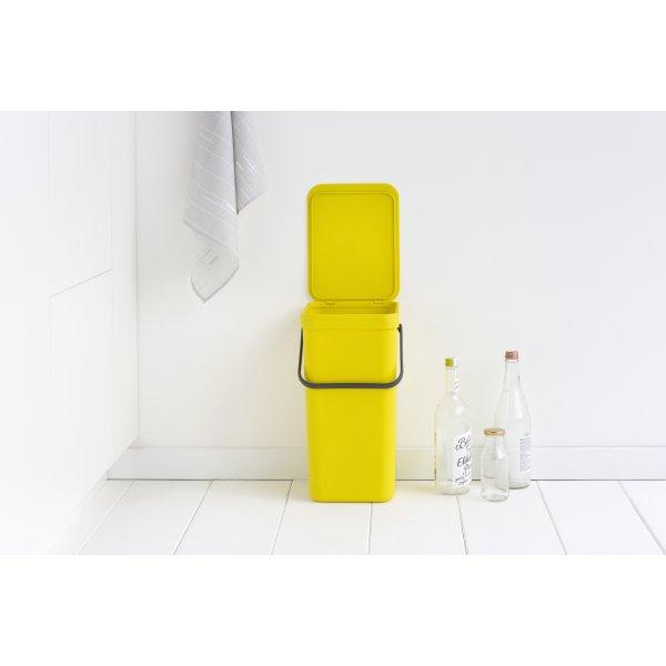 Brabantia Sort&Go Sorteringsspand 16 liter, gul