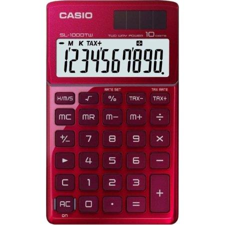 Casio SL-1000TW bordregner, rød