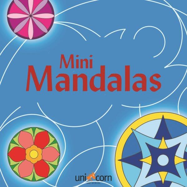 Mini Mandalas malebog, blå