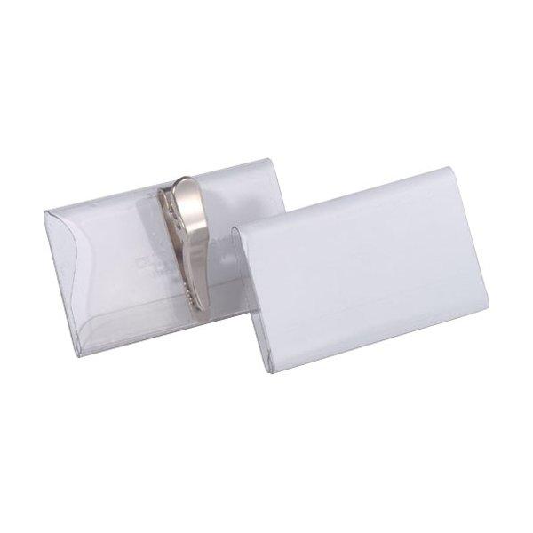 Durable konf.mærke m/klemme 40 x 75mm, 25stk