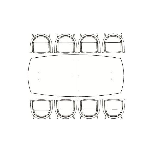 Switch konferencebord bøg laminat 120x250 cm