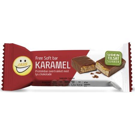 EASIS Free Soft bar karamel/lys choko sukkerfri