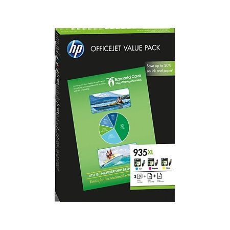 HP 935XL/F6U78AE CMY Ink Cartridge OVP Value Pack