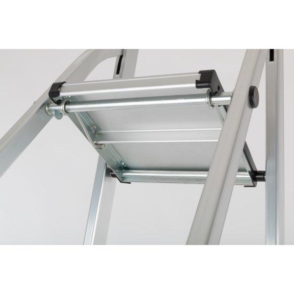 Trappestige 4 trin, aluminium, højde 84 cm