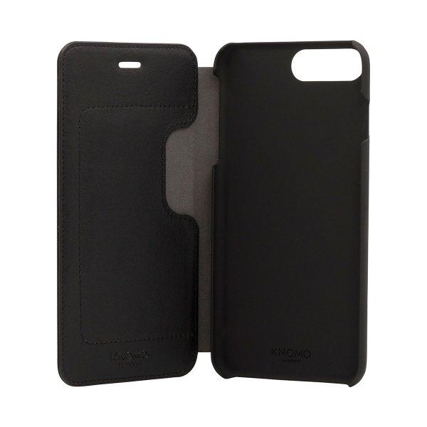 Knomo lædercover til iPhone 7 Plus, sort