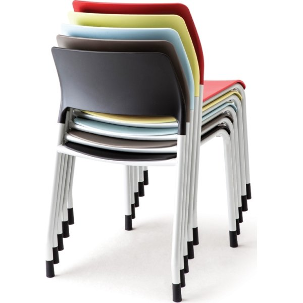 Multi kantine/konferencestol Sort/sølvfarvet