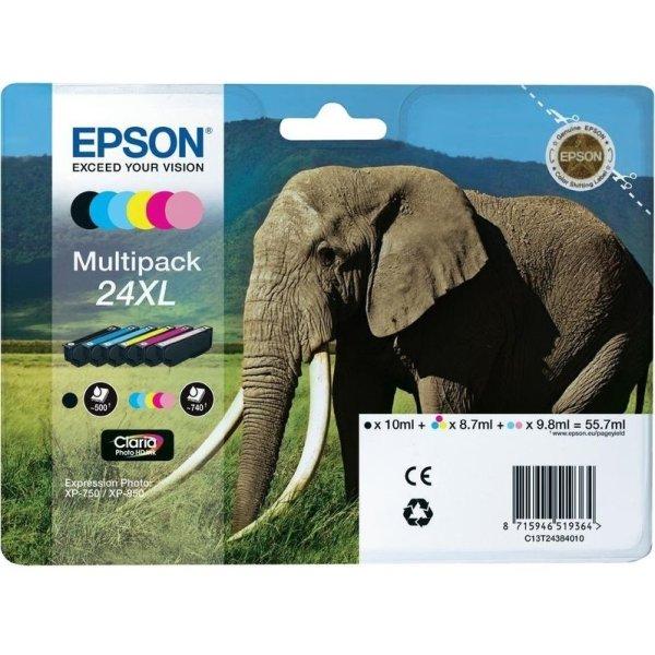 Epson 24XL blækpatron, multipak, 6 farver