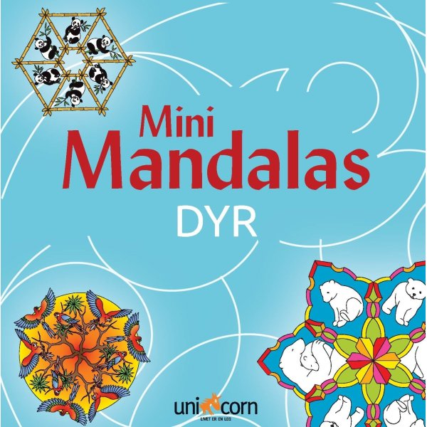 Mini Mandalas Dyr, malebog