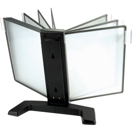 Infocenter bordmodel A4 med 10 lommer, sort