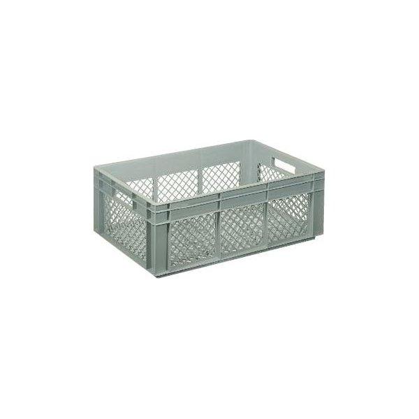 Lagerkasse perforeret 42 liter,(LxBxH) 60x40x22 cm