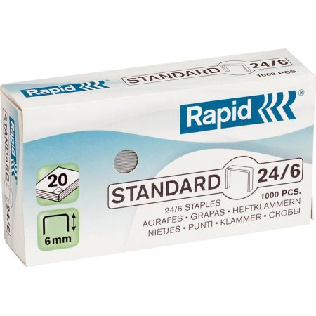 Rapid Standard 24/6 Hæfteklammer, 1000 stk.
