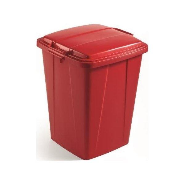 Affaldsspand 90 l, 510x487x630, Rød