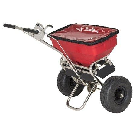 Saltspreder med luftgummihjul, 58 l