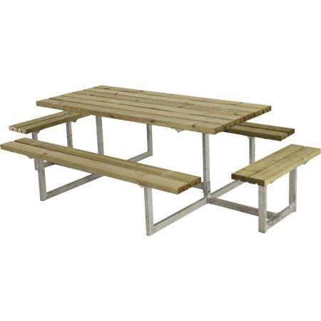 Plus Basic bord-bænkesæt m. påbygning, Natur