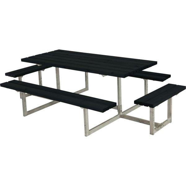 Plus Basic bord-bænkesæt m. påbygning, Sort